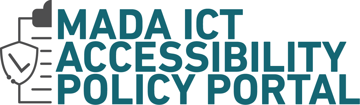 Mada ICT Accessibility Policy Portal